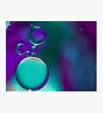 Blue Bubble's Photographic Print