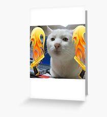 Atomic Cat Greeting Card