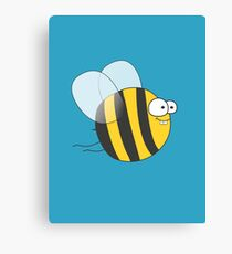 Cool & Crazy Funny Bee / Bumble Bee (Sweet & Cute) Canvas Print
