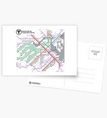 MBTA Boston Subway - The T (light background) Postcards