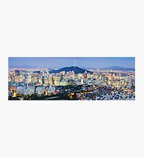 Seoul at night Photographic Print