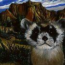Blackfooted Ferret Portrait by Jedro