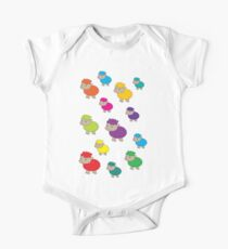Colourful sheep One Piece - Short Sleeve