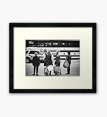 Here is Shopaholic in NYC Framed Print