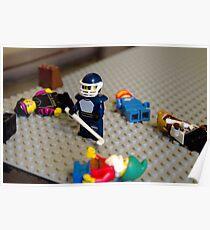 Lego Hockey Player Poster