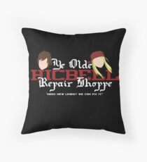 Ye Old Hicbell Shoppe - Poster Throw Pillow