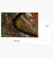 Early Leaf that fell by Garage Door Chain Postcards