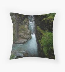 AVALANCHE CREEK, GLACIER NATIONAL PARK Throw Pillow