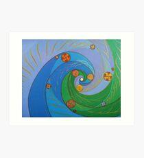 Cosmic Curl - cool Art Print