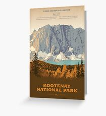 Kootenay National Park poster Greeting Card