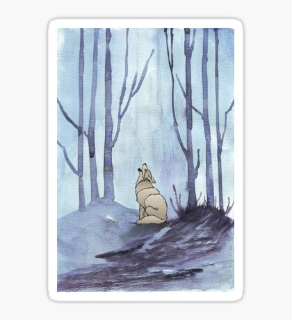 From silvery woods there comes a call - Log cabin décor  Sticker