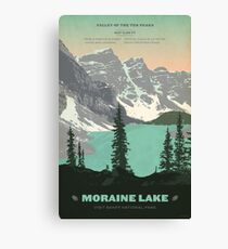 Moraine Lake poster Canvas Print