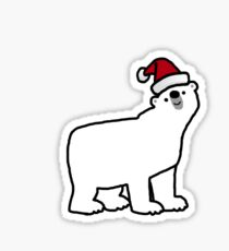 66b667dd4eac9 Santa Hat Sticker. CHRISTMAS POLAR BEAR Sticker
