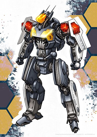Police Robot 54 by Mecha-Zone