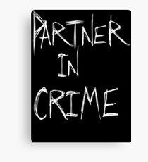 Partner in Crime DARK Canvas Print