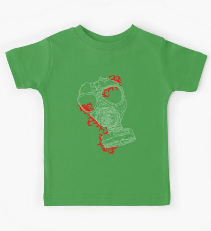 gas mask red Kids Clothes