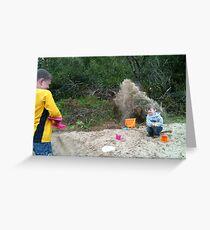 Sand Shower 1 Greeting Card