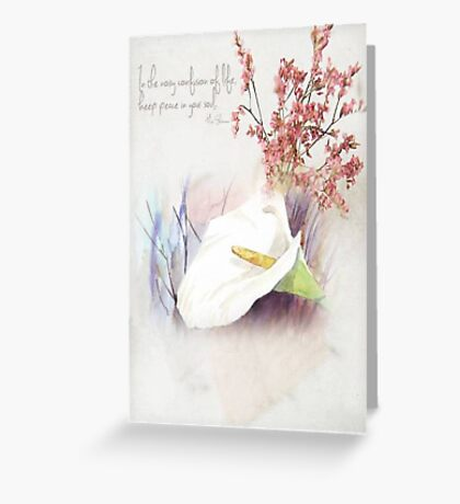 Keep peace in your soul Greeting Card