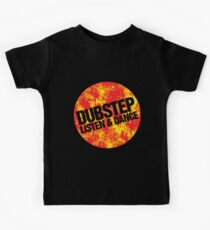 Dubstep Listen & Dance (lava) Kids Tee
