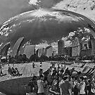 City in a Bubble B/W by Adam Northam