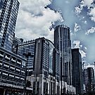Downtown Chicago Bleached by Adam Northam
