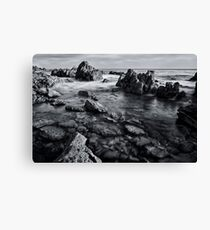Black and White Rocks Canvas Print