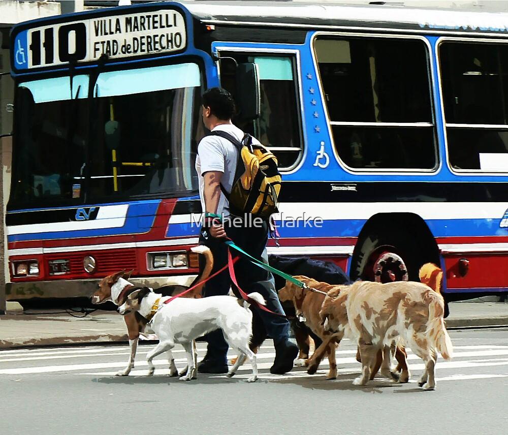 Dog Walkies by Michelle Clarke