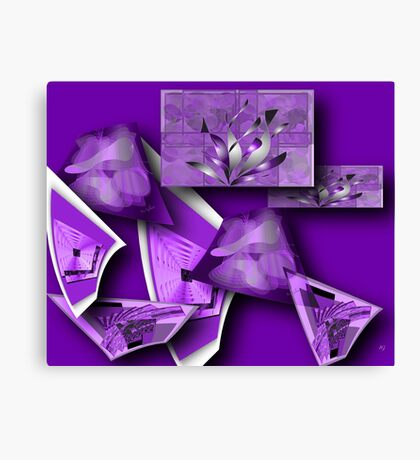 Collage in Purple Canvas Print