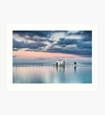 Merewether Ocean Baths - End of Day Art Print