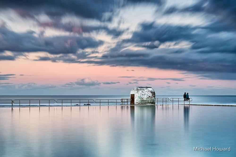 Merewether Ocean Baths - End of Day by Michael Howard