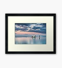 Merewether Ocean Baths - End of Day Framed Print