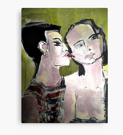 Do U Want to Know a Secret Can I whisper in your Ear Metal Print