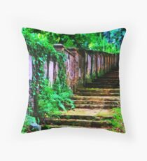 The Wall of Gravestones Throw Pillow