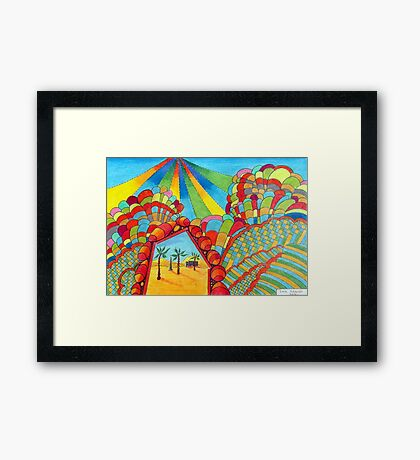 358 - MIRAGE - DAVE EDWARDS - COLOURED PENCILS - 2012 Framed Print