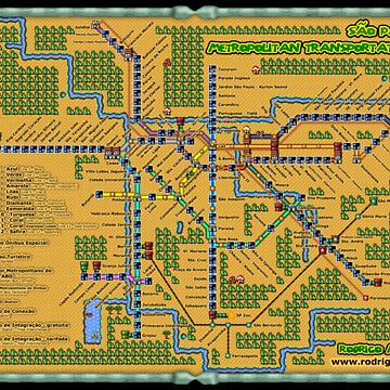 São Paulo City Metropolitan Transportation Map (Print Version) by Rodmarck