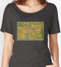 São Paulo City Metropolitan Transportation Map Women's Relaxed Fit T-Shirt