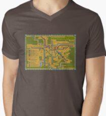 São Paulo City Metropolitan Transportation Map Men's V-Neck T-Shirt