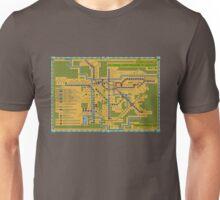 São Paulo City Metropolitan Transportation Map Unisex T-Shirt