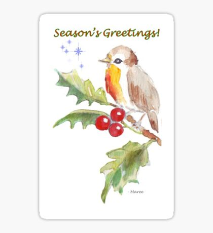 Season's Greetings! 1 Little bird (1) Sticker
