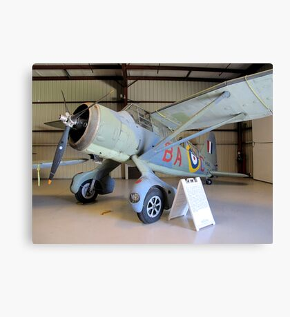 Port Side View - Canadian Lysander Aircraft Canvas Print