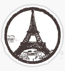 Eiffel Tower Peace Sign Sticker