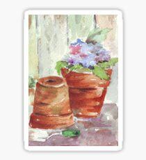 Violets in a pot Sticker