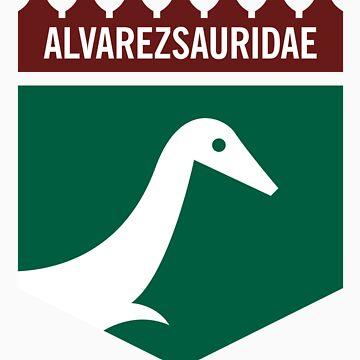 Dinosaur Family Crest: Alverezsauridae by anatotitan