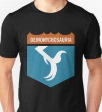 Dinosaur Family Crest: Deinonychosauria Unisex T-Shirt