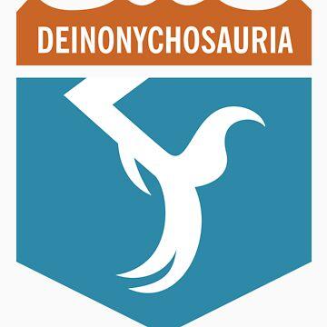 Dinosaur Family Crest: Deinonychosauria by anatotitan