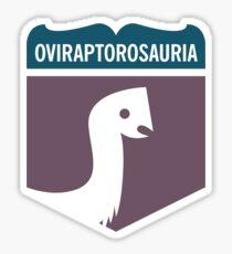 Dinosaur Family Crest: Oviraptorosauria Sticker