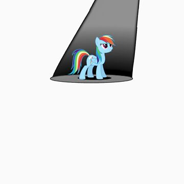 Rainbow Dash in the Spotlight - Sticker by Ferretferret