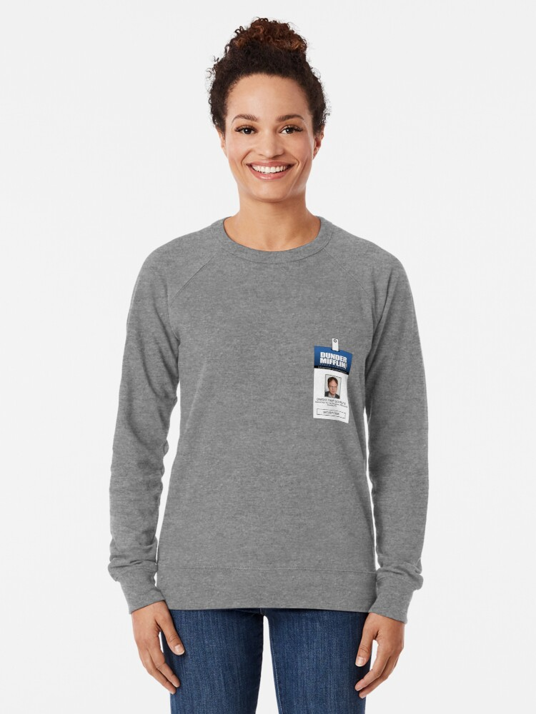 photograph regarding Dwight Schrute Id Badge Printable known as Dwight Schrute The Business Identity Badge Blouse Light-weight Sweatshirt