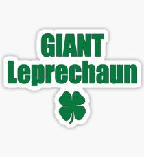 Giant Leprechaun T-shirt Irish Tee Sticker