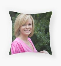 Amanda Holden at the RHS Chelsea Flower show 2012 Throw Pillow